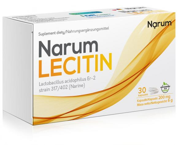 Narum Lecitin 200 mg, 30 kapsułek