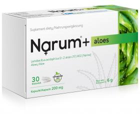 Narum+ Aloes 200 mg, 30 kapsułek